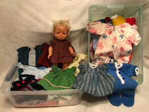 "Ten-inch doll & hand-made doll clothes ""SOLD!"""