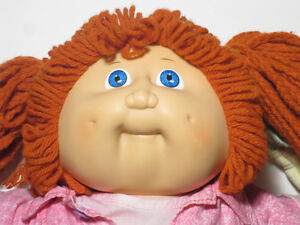 Vintage 80's Coleco Cabbage Patch girl doll redhead and clothes