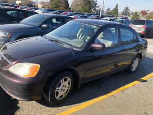 2001 Honda Civic Four-Door Automatic Sedan $750