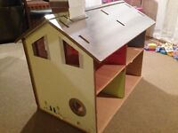 Doll House - Corrugated construction.