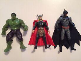 Marvel and dc comics figures