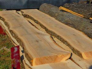 Live Edge Oak slabs, ash slabs and cherry slabs