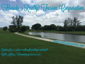 South Florida Seasonal Rentals with Golf Privileges Included
