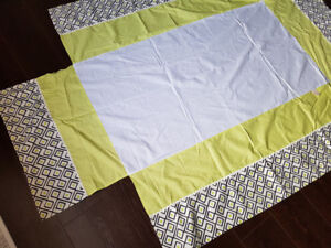 6 PC, designer crib bumper, quilt and ..