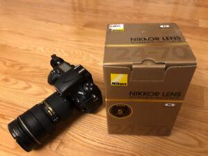BARELY used Nikon D800E + 24-70 f/2.8G
