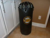 punching bag with harware.