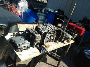 Misc Subaru engine parts EJ25 heads, block, pistons, crank