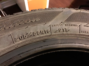 Set of 4 16 Inch Used Goodyear UltraGrip Winter Tires