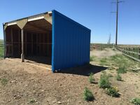 Metal Siding Clad Horse /Livestock Shelter