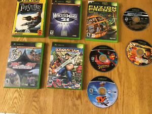 XBOX for parts, controller and games