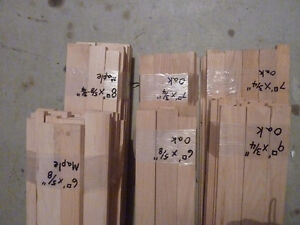 Maple and Oak bundles of furniture grade wood