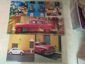 Fun & Funky Art for the Car Enthusiast.  4 piece set.