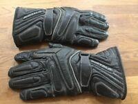 Motorcycle Gloves Buffalo Black Leather.