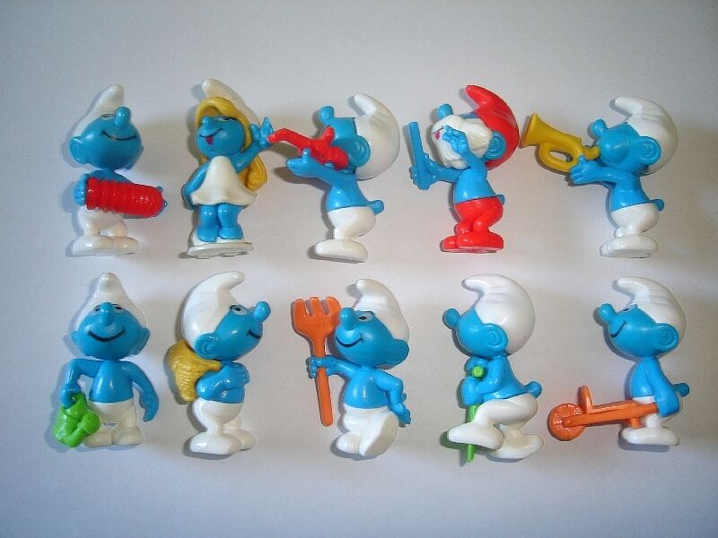 THE SMURFS 1996 KINDER SURPRISE FIGURES SET PEYO - FIGURINES COLLECTIBLES