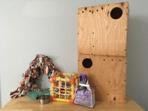Parrot Swings, Dishes, Food & Nest Boxes