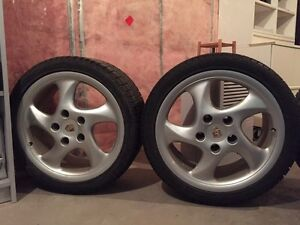 Porsche Boxster S (986) 18 inch wheels with winter tires Gatineau Ottawa / Gatineau Area image 1