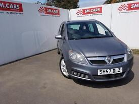 2007 57 VAUXHALL ZAFIRA 1.9 CDTi 16V (150PS) DESIGN.HEATER RECALL DONE.FULL SH .