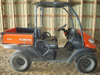 Kubota RTV500 4wd utility vehicle, almost new (similar to Gator)