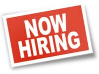 Wanted staff for front of house job hiring now