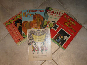 ...FIVE LITTLE BEDTIME STORY BOOKS...From the '60's!