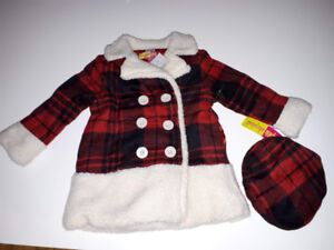 Penelope Mack Baby Girls' Jacket with Hat 2 years new never used