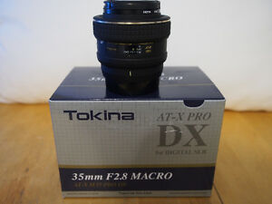 TOKINA Macro 35mm F2.8 DX AT-X Pro Lens for NIKON SLR