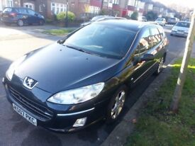Peugeot 407 SW 2.0 HDI year 2007,MOT,lots of extras,very reliable and economical car,panoramic roof