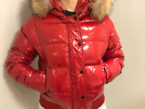 Red Moncler jacket (in good condition)