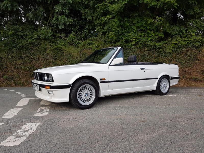 1990 G Bmw 325i Auto Convertible E30 Alpine White Full M