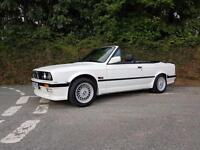 1990 G BMW 325I AUTO CONVERTIBLE E30 ALPINE WHITE FULL M TECH ONE KIT