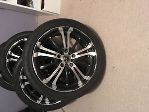 """17"""" Spyder Rims and tire , from Honda Civic"""