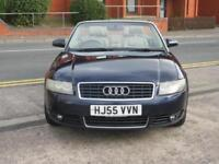 55 AUDI A4 CABRIOLET 1.8T SPORT + LEATHER + NEW MOT