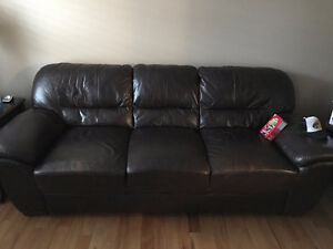 Selling Chocolate Brown Leather Couch for $225
