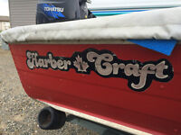 HarbourCraft Aluminum boat 12ft and custom trailer
