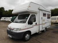 Compass Aventgarde 200 2002 4 Berth Rear U Shaped Lounge Motorhome For Sale