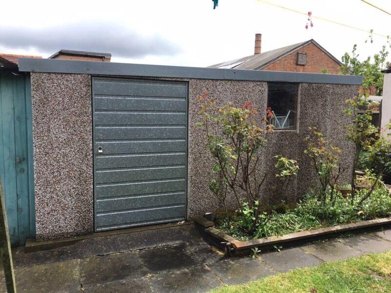 pre fab garden concrete panel shedworkshopstorage in