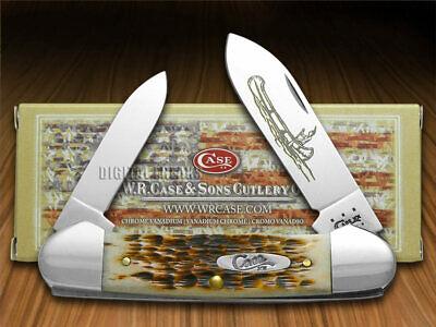 Case xx Canoe Knife Jigged Amber Bone Native American CV Pocket Knives 00263