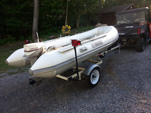 12' Dinghy with 15hp Johnson
