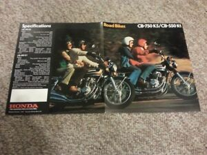 1975 CB 750 K5 and  CB550 K1  brcochure mint collectable rare
