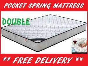 FREE DELIVERY Double Sized Pocket Spring Bed Mattress - BRAND NEW New Farm Brisbane North East Preview
