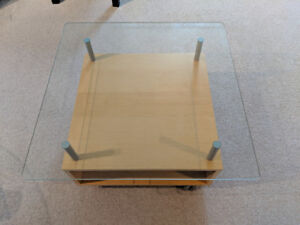 Glass Coffee Table or TV Table $75