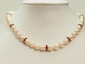 STERLING SILVER FRESHWATER PEARL NECKLACE...CLEAR OUT PRICE !!!