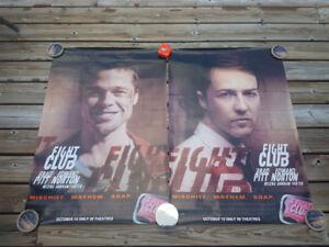 FIGHT CLUB Brad Pitt Edward Norton Original Movie Poster (x2)