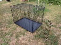 Large Wire Double Door Dog Crate