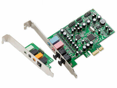 Syba SD-PEX63081 7.1 Surround Sound PCI-e Audio Card with S/PDIF I/O