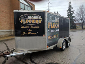 TODAY ONLY Mission 7' x 12' Tandem Aluminum Enclosed Trailer