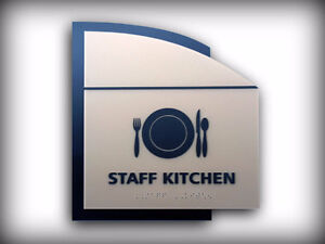 Braille and Tactile ADA / ADOA Custom Designed Signs Kitchener / Waterloo Kitchener Area image 7