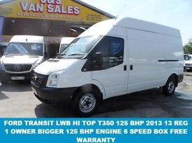 VAN LWB T350125 BHP HI TOP 2013 13 REG 1 LEASE OWNER