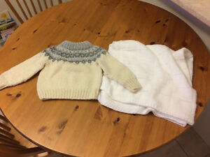Never used cowichan sweater and blanket