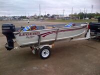 14ft Legend with 25 Evinrude motor and trailer